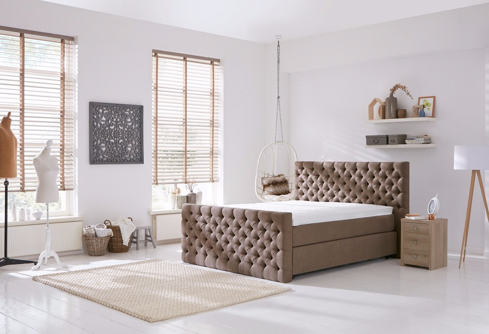 boxspringbett home 320 swiss sense. Black Bedroom Furniture Sets. Home Design Ideas