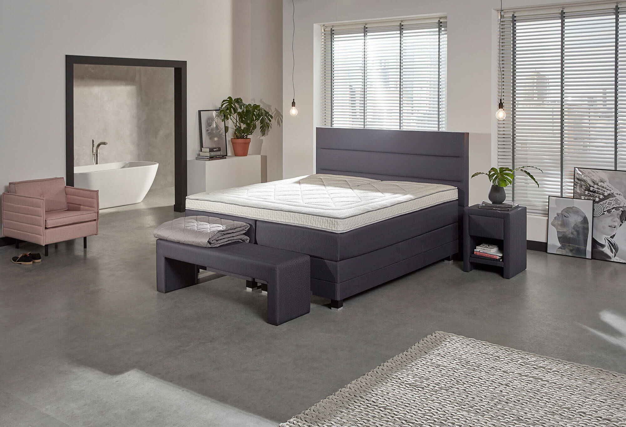 jubil um boxspringbett edition ii swiss sense. Black Bedroom Furniture Sets. Home Design Ideas