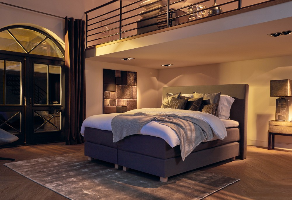 boxspringbett diks floreana swiss sense. Black Bedroom Furniture Sets. Home Design Ideas