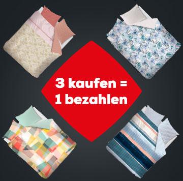 3 kaufen = 1 bezahlen Bettwäsche | Swiss Sense