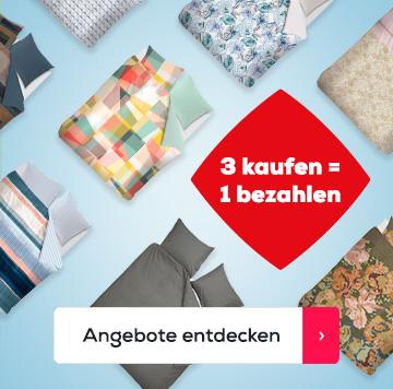3 kaufen = 1 bezahlen Bettwäsche   Swiss Sense