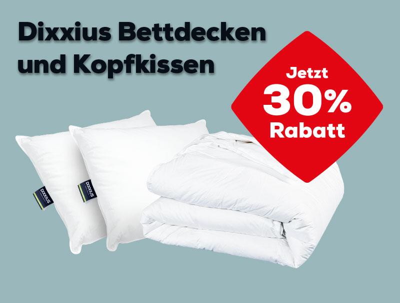 30% Rabatt auf Dixxius Kopfkissen und Bettdecken   Swiss Sense