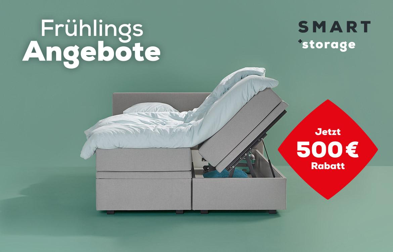 Boxspringbetten SMART Storage Frühlings Angebote | Swiss Sense