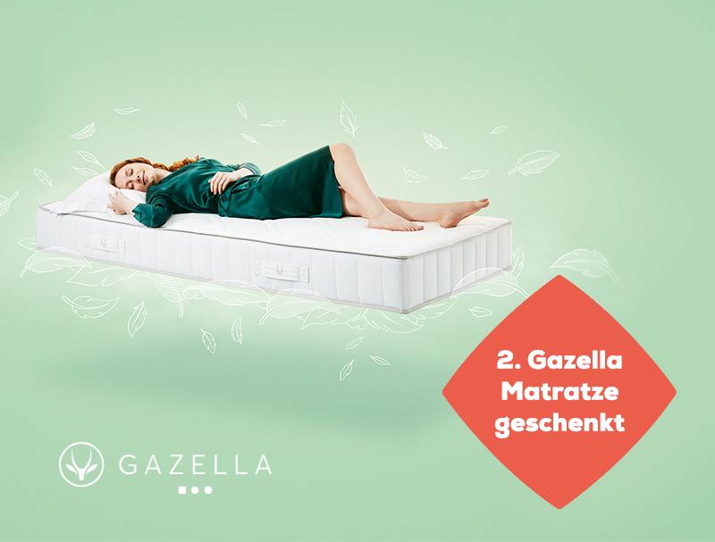 Gazella aktion 2. matratze geschenkt - Herbst Angebote   Swiss Sense
