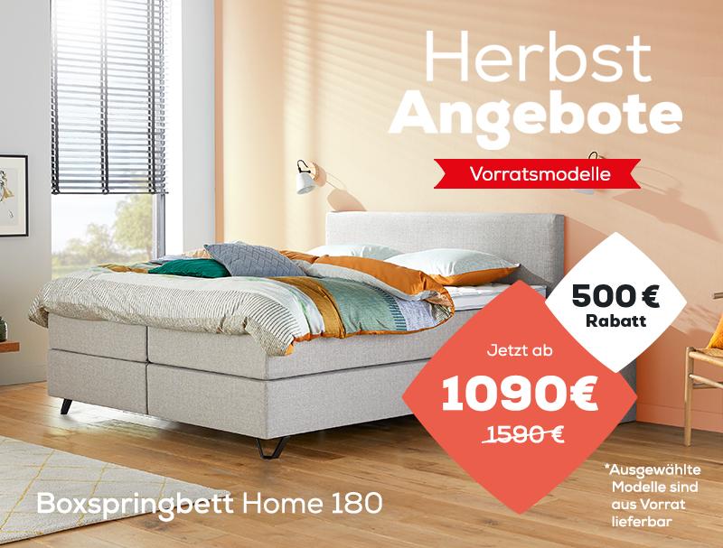 Boxspringbett Home 180 - Herbst Angebote   Swiss Sense