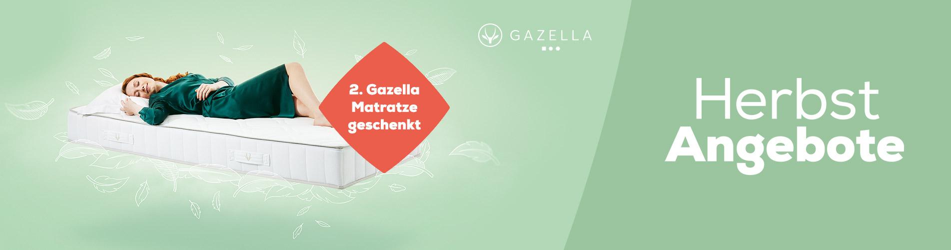 Gazella Matratzen 2. Matratze Geschenkt - Herbst Angebote | Swiss Sense