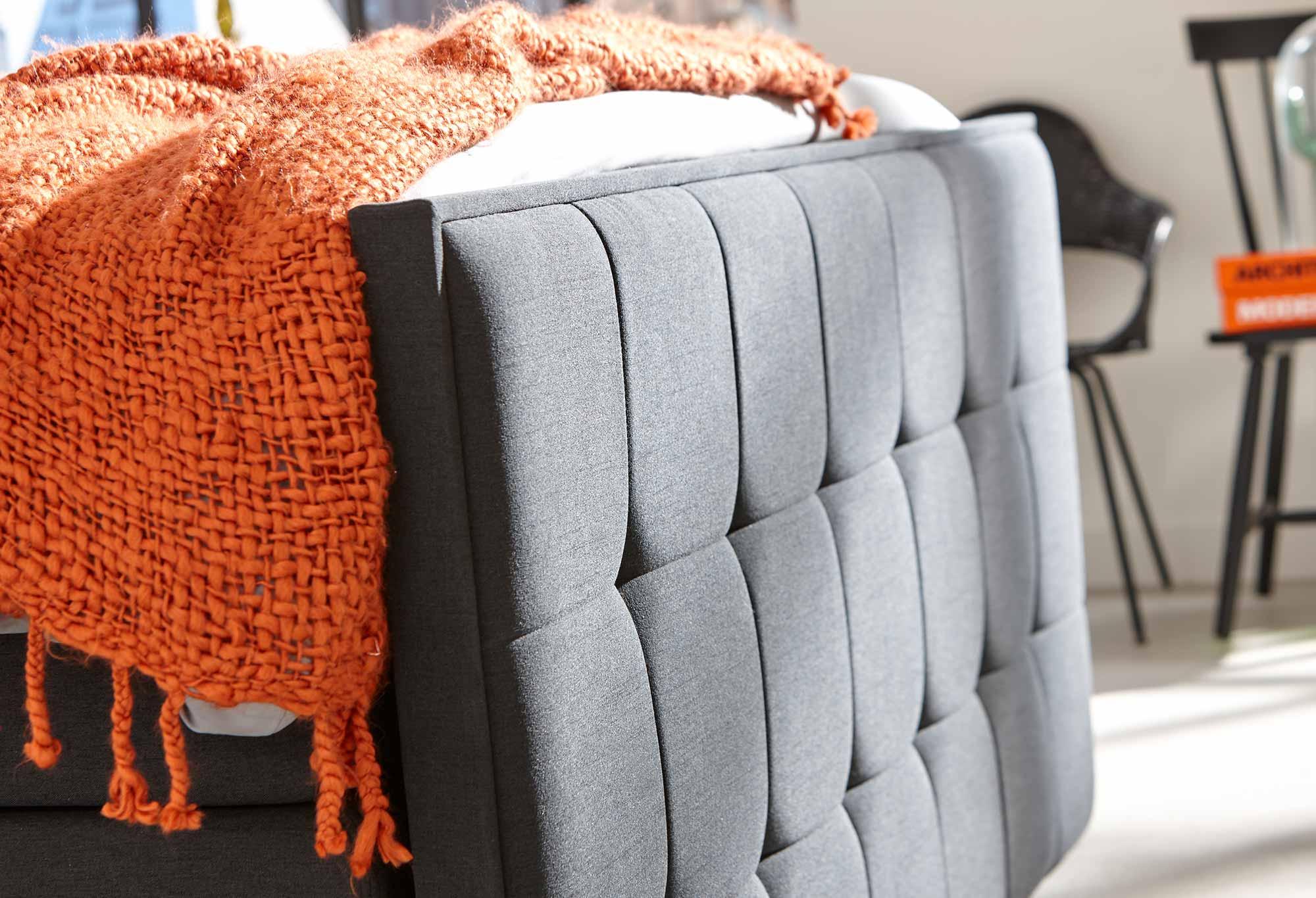 Grau Boxspringbett Home 500