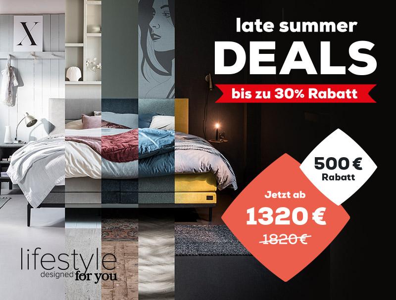 Late Summer Deals 500 € Einführungsrabatt auf die Lifestyle Kollektion   Swiss Sense