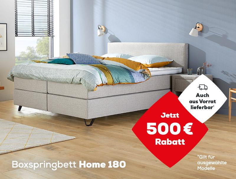 Boxspringbett Home 180 jetzt ab 1090 € (1590 €) während des Late Summer Deals   Jetzt 500 € Rabatt   Auch aus Vorrat lieferbar   Swiss Sense