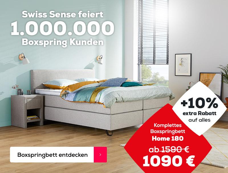 10% extra Rabatt auf das Home 180 Boxspringbett | Swiss  Sense