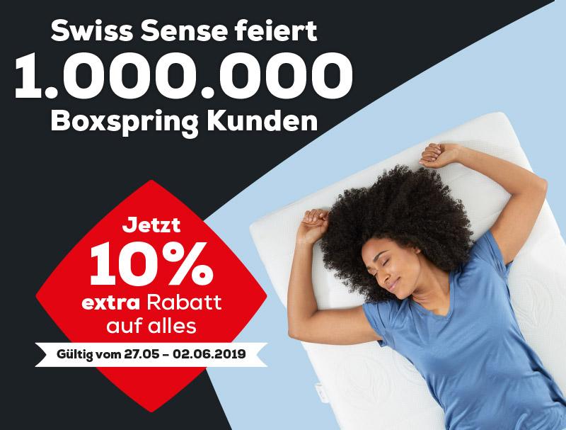 AEROMAX Matratzen 10% extra Rabatt | Swiss Sense