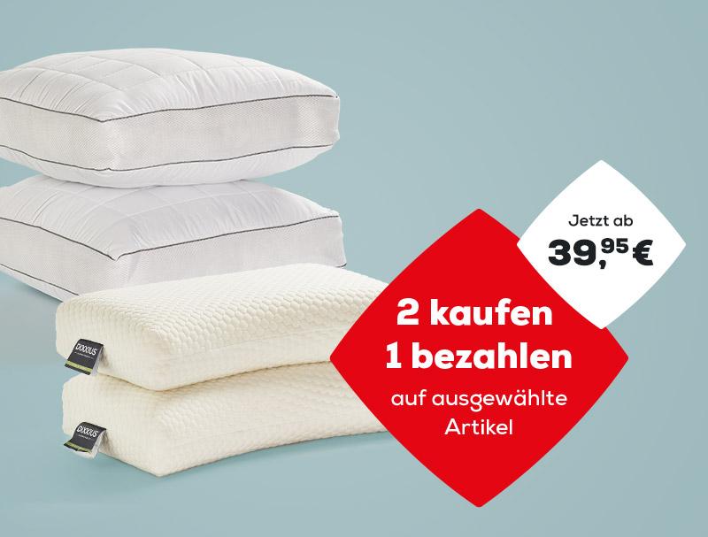2 kaufen, 1 bezahlen auf ausgewählte Kopfkissen während des Summer Sales   Swiss Sense