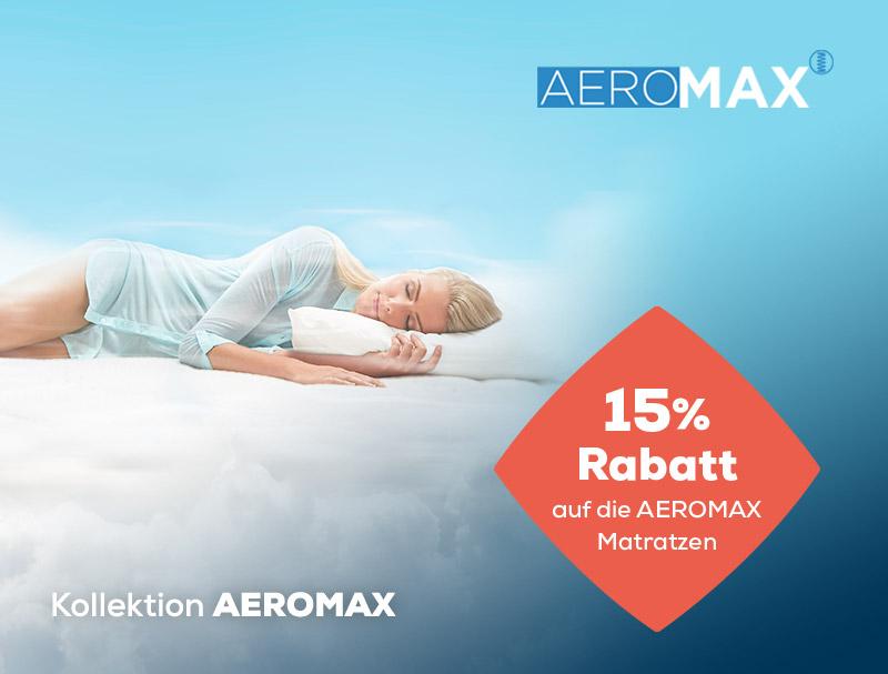 15% Rabatt auf AEROMAX Matratzen während des Summer Sales   Swiss Sense