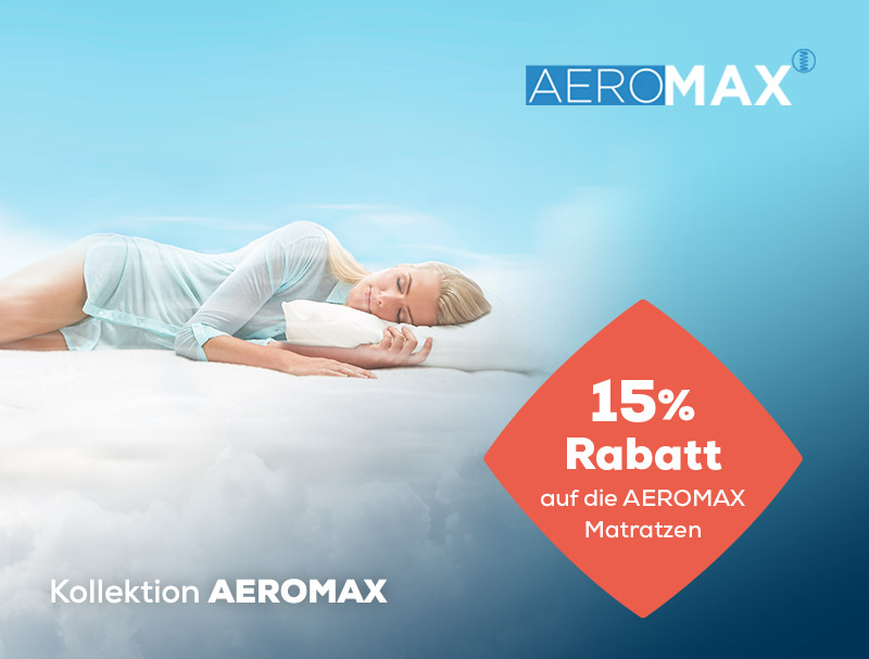 Summer Sale AEROMAX Matratzen 15% Rabatt   Swiss Sense