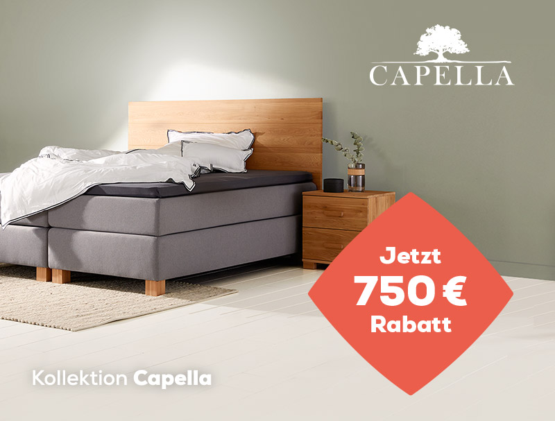 Summer Sale 750 € Einführungsrabatt auf die Capella Kollektion | Swiss Sense