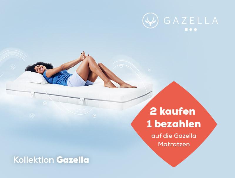 2 kaufen, 1 bezahlen auf Gazella Matratzen während des Summer Sales   Swiss Sense