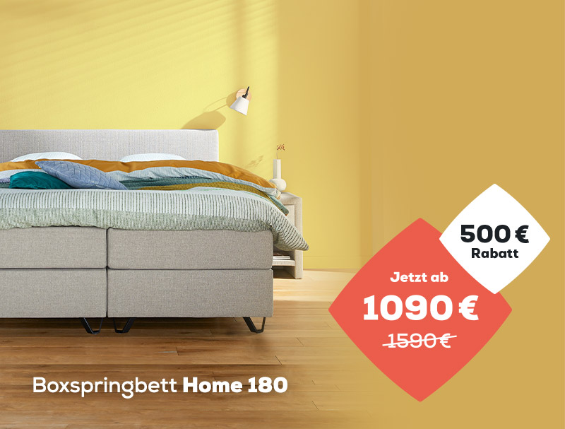 Summer Sale 500 € Rabatt auf das Home 180 Boxspringbett | Swiss  Sense