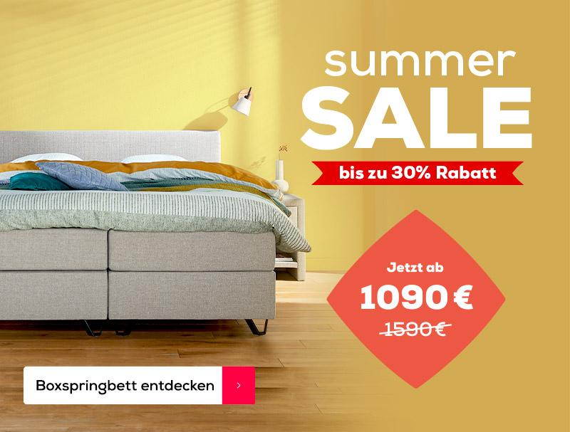 Summer Sale 500 € Rabatt auf das Home 180 Boxspringbett | Swiss Sense