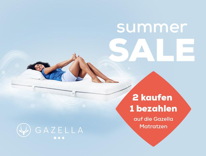 Summer Sale Gazella Matratzen 2 kaufen 1 bezahlen | Swiss Sense