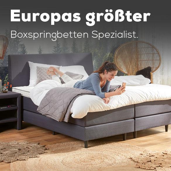 Europas größter Boxspringbetten Spezialist. | Swiss Sense