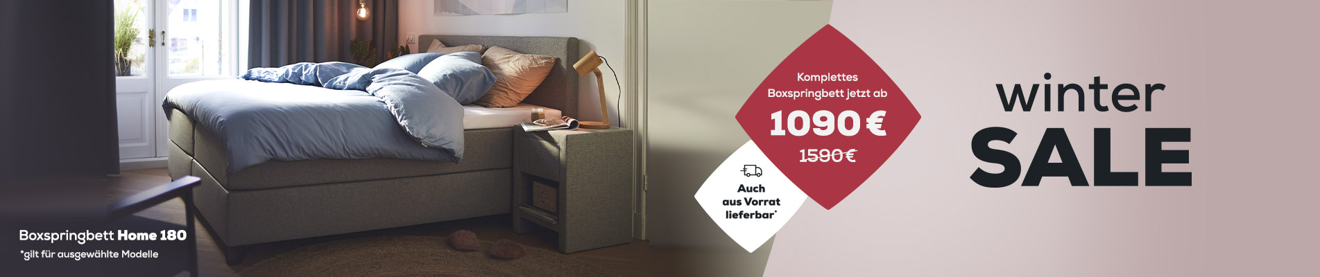 Boxspringbett Home 180 j| Winter Sale | Swiss  Sense